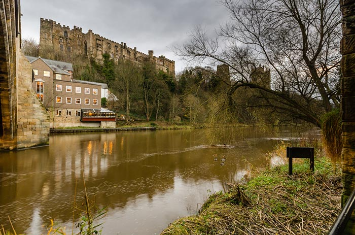 Durham Castle from the riverside